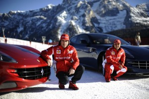 Ferrari : A VERY SPECIAL SLALOM FOR FERNANDO AND FELIPE