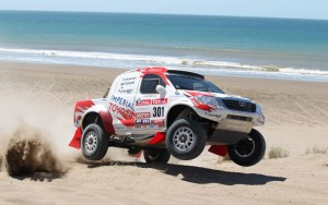Toyota HiLux Finished on the Podium at Dakar Rally