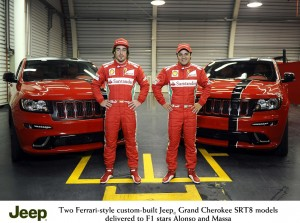 My Drive - NEW 2012 JEEP GRAND CHEROKEE SRT8 SUVS WILL SPORT FERRARI RED FOR FORMULA 1 STARS FERNANDO ALONSO AND FELIPE MASSA