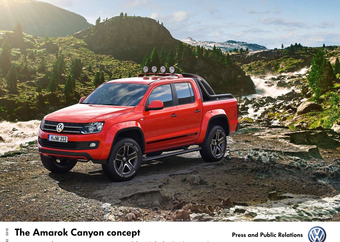 vw amarok canyon concept mydrive media. Black Bedroom Furniture Sets. Home Design Ideas