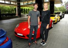Porsche's Webber & Sharapova On Route To Australian Open