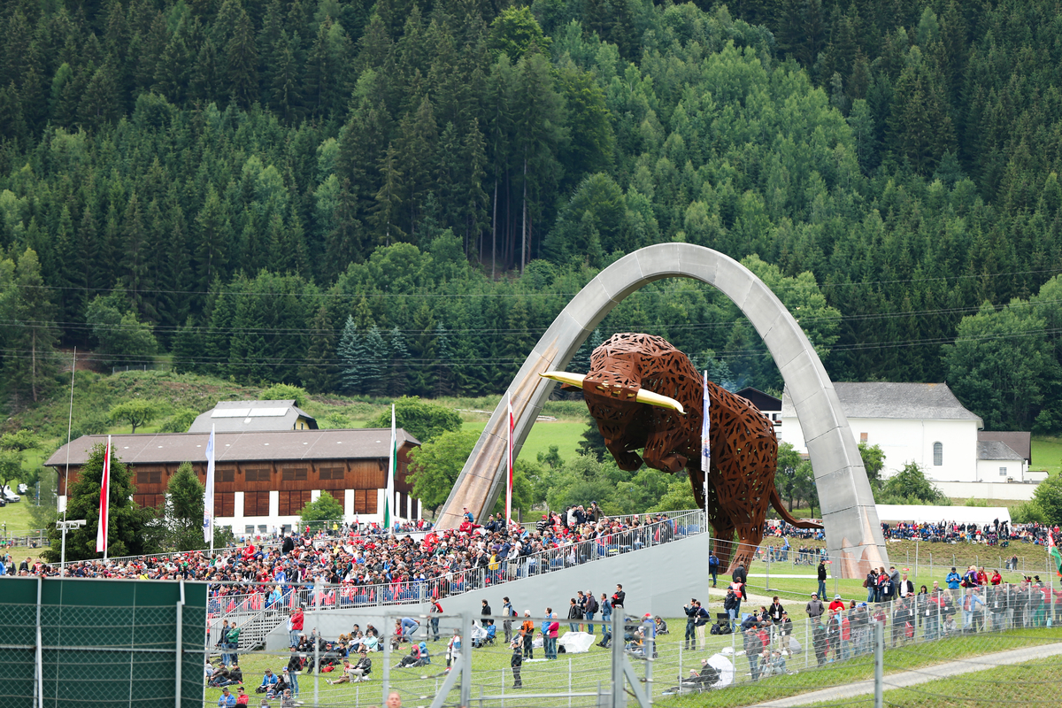 austria view red bull. F1 World Championship, Austrian Grand Prix,Red Bull Ring, Spielberg, Austria View Red A