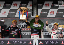 Percat wins his first race and Nissan's Caruso leads the V8SC Championship